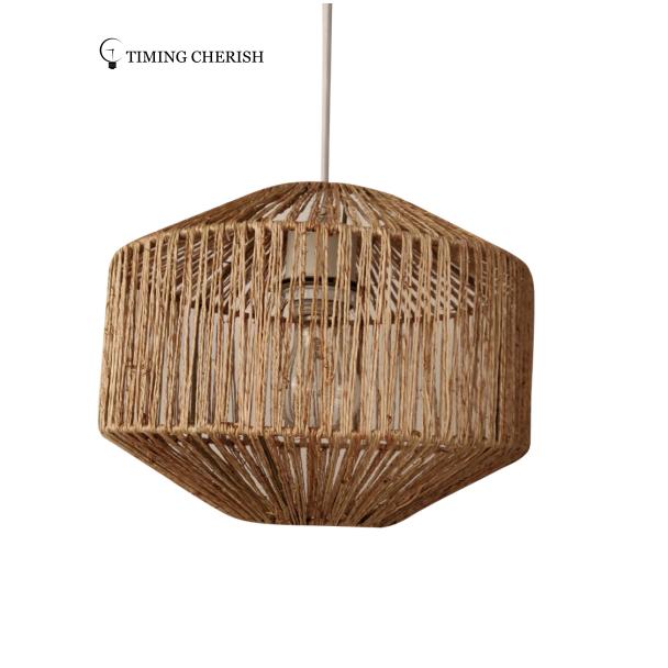 Alpha Modern Boho Handcrafted of Natural Fiber  Suspension Lamp 2021 Lighting trends