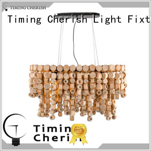Timing Cherish baikal wood bead chandelier for business for bar