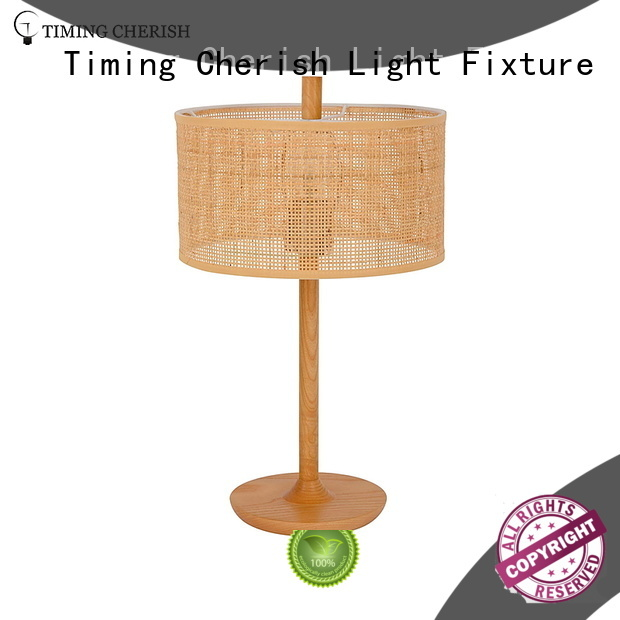 Timing Cherish rattan side table lamps suppliers for living room