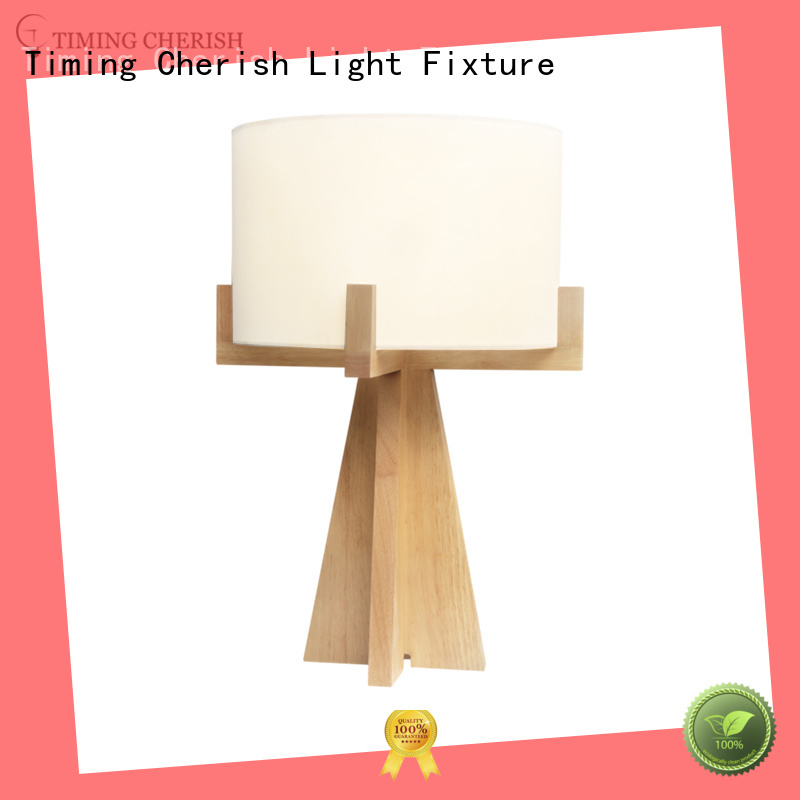 Custom shade black column glass table lamp Timing Cherish offwhite