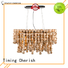 handmade wood bead chandelier block for business for home