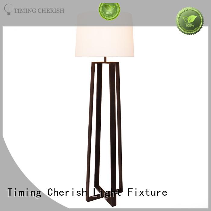 Timing Cherish modern tall floor lamps shade for living room