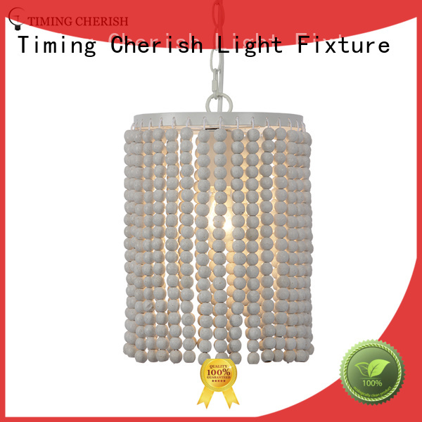 wood timber pendant light white customized for shop