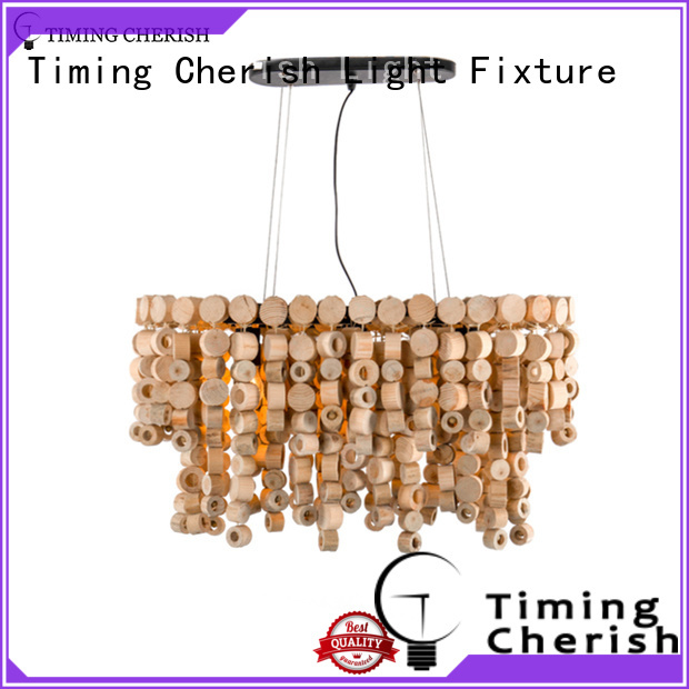 Timing Cherish natural vintage chandelier fringed for home