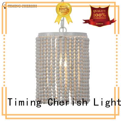 Timing Cherish wood pendulum lights manufacturers for living room