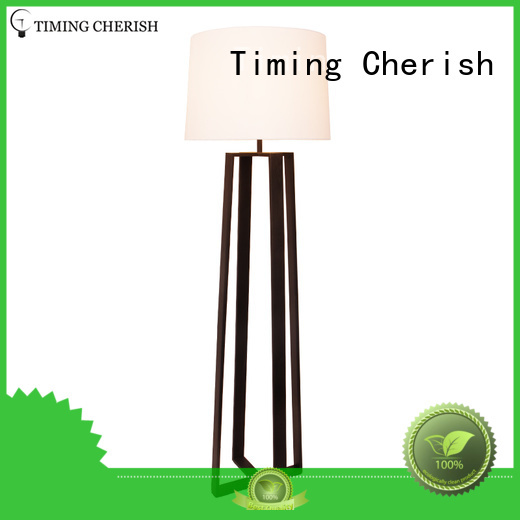 Timing Cherish white fabric floor lamp manufacturers for living room