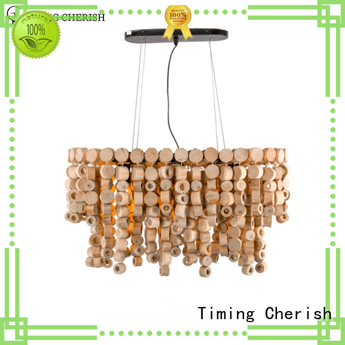 Exclusive Octave 3 Light Handmade 2-Tier Wood Chip Modern Oval Pendant Lamp in Wood Natural
