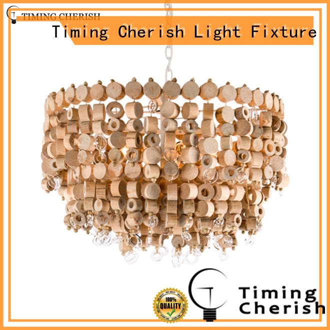 Timing Cherish white wood bead light manufacturer for living room