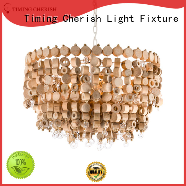 black wooden natural Timing Cherish Brand entryway chandelier factory