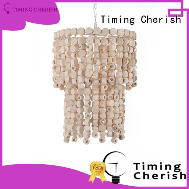 Timing Cherish natural beaded pendant light manufacturers for living room
