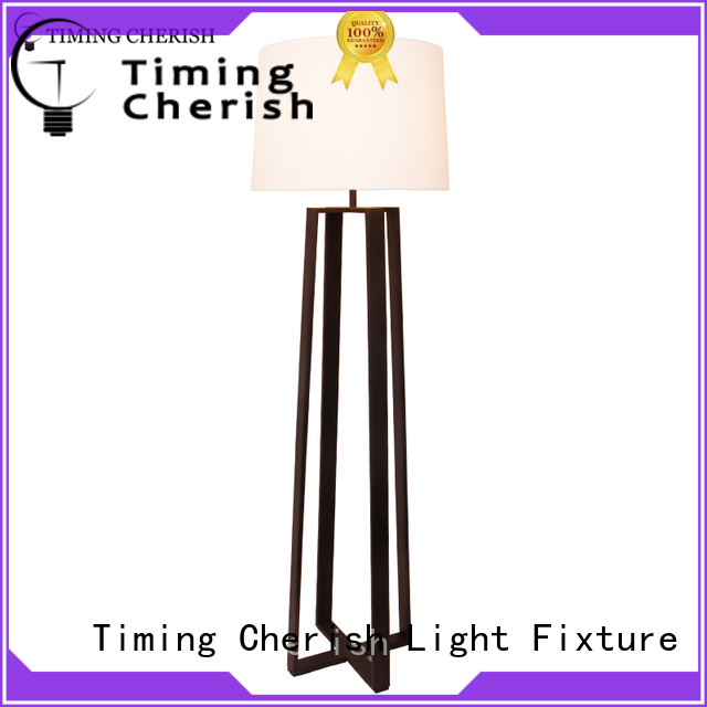 Timing Cherish glass wooden floor lamp suppliers for bar