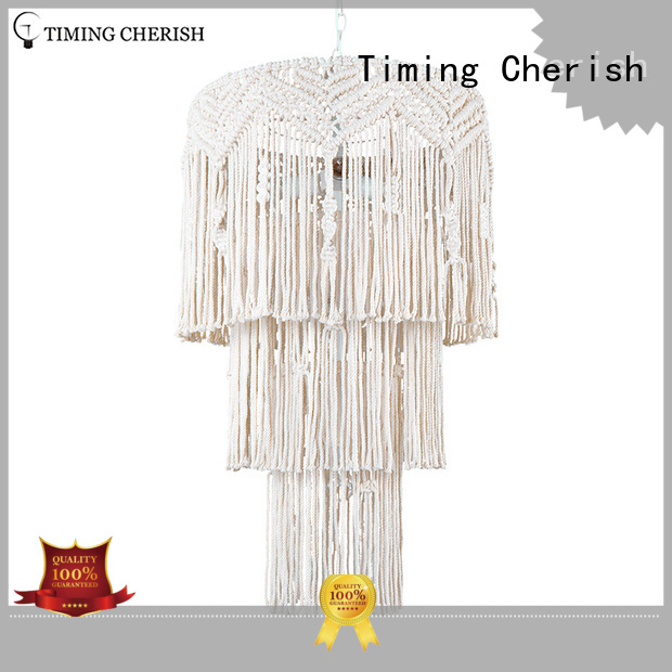 Timing Cherish hanging wood bead chandelier suppliers for hotel