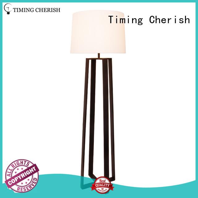 cylinder metal floor lamp nickel for business for bar