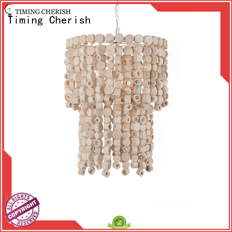 Timing Cherish wooden pendant chandelier supply for home