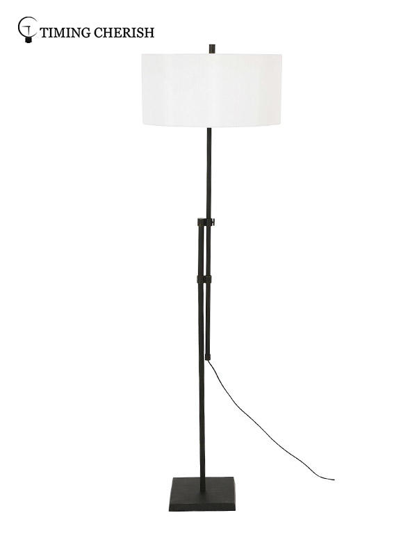 Timing Cherish natural wood floor lamp offwhite for living room-3