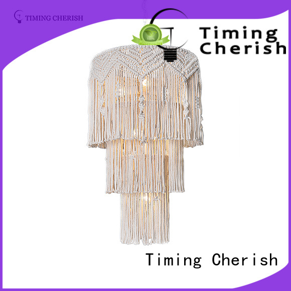 Timing Cherish exclusive white wood bead chandelier customized for shop